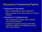educating empowering patients