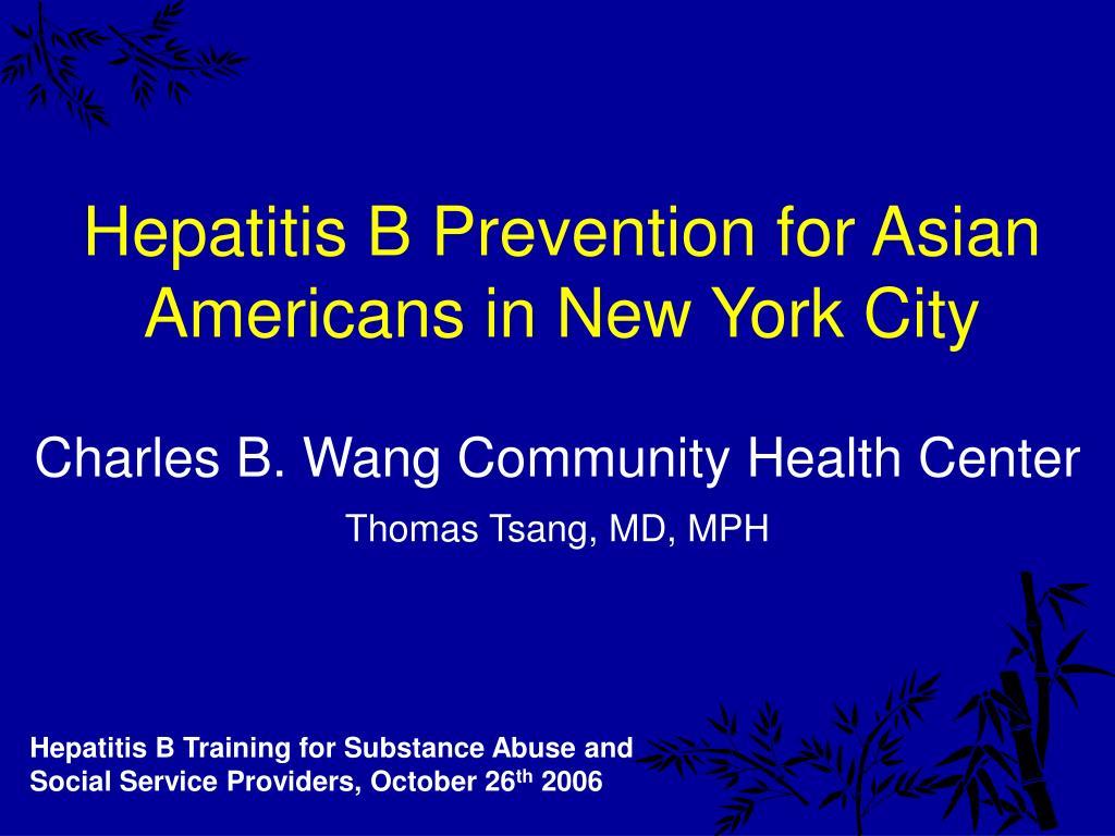 hepatitis b prevention for asian americans in new york city l.