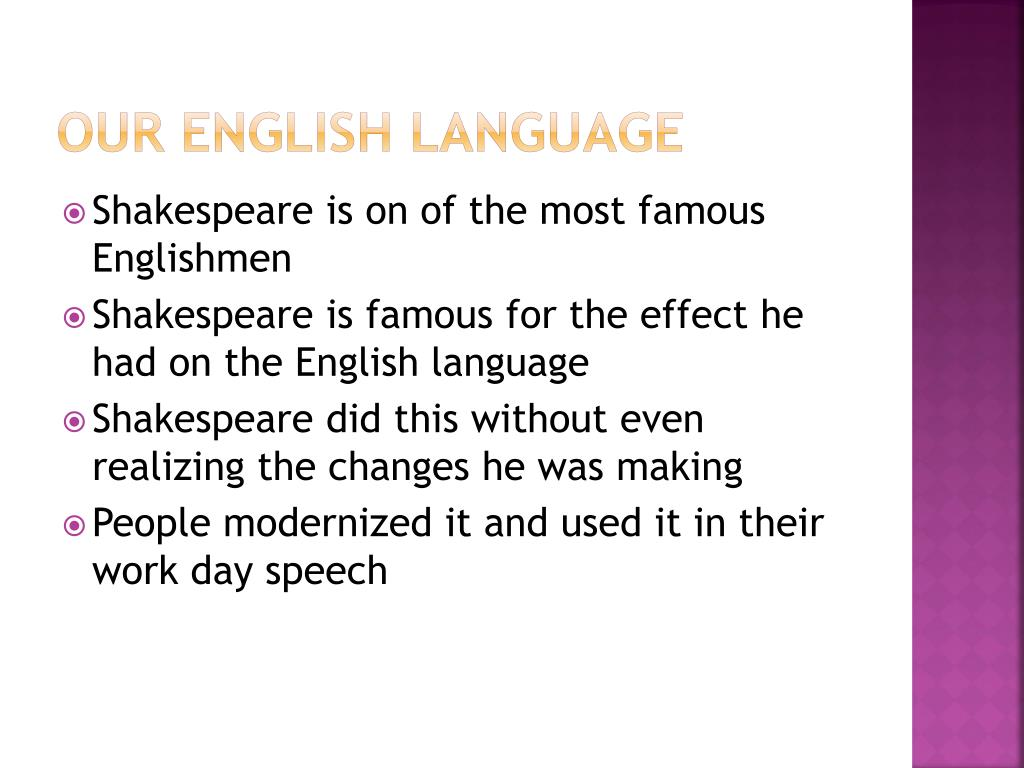 effect of shakespeares language essay Get access to shakespeare s influence essays only from anti essays listed results 1 - 30 get studying today and get the grades you want only at.