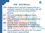 nse brief history7