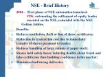 nse brief history9