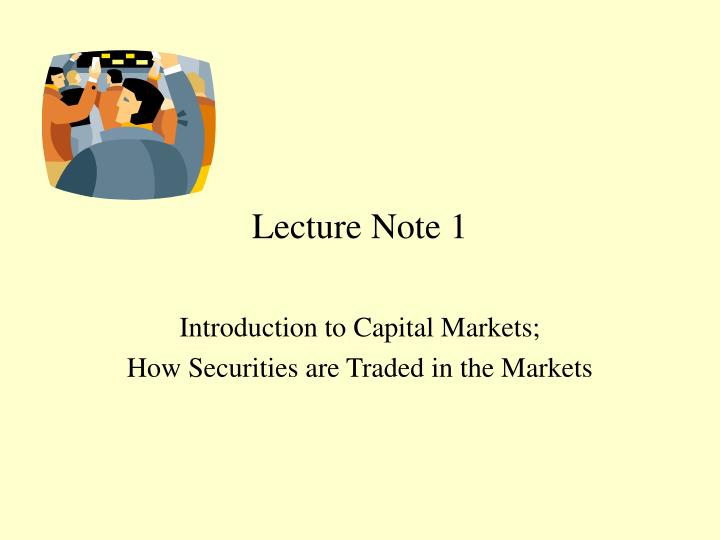 lecture note 1 n.