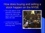 how does buying and selling a stock happen on the nyse8
