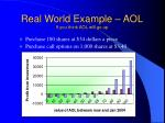 real world example aol if you think aol will go up