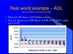 real world example aol you think aol is going to tumble