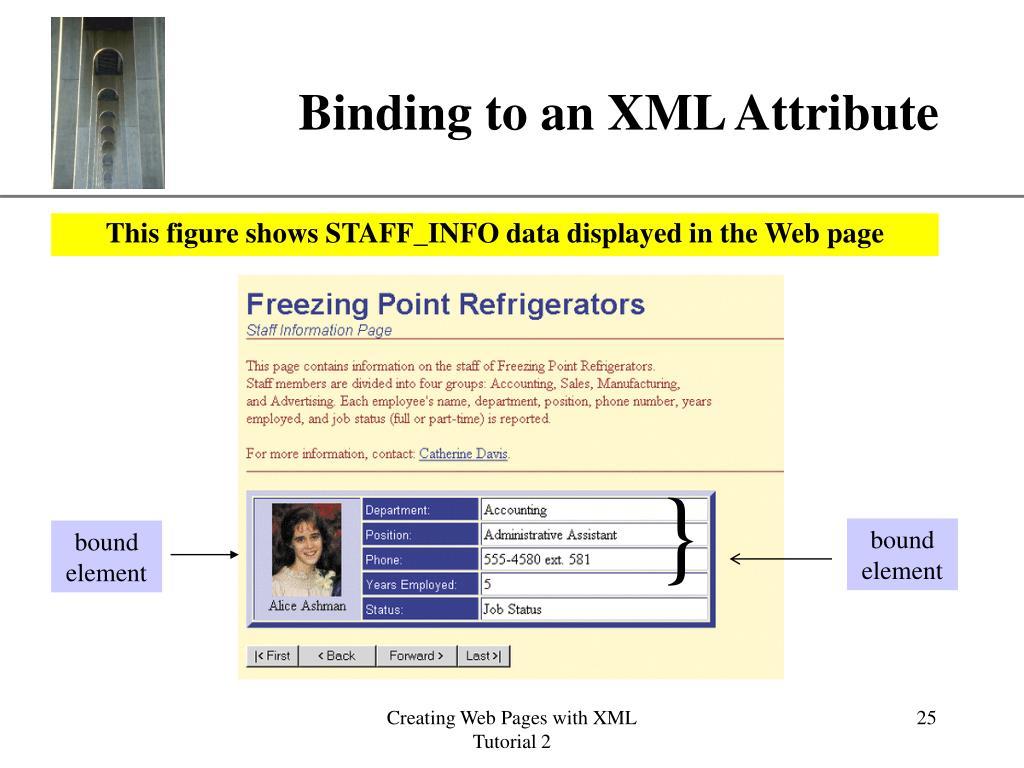 Binding to an XML Attribute