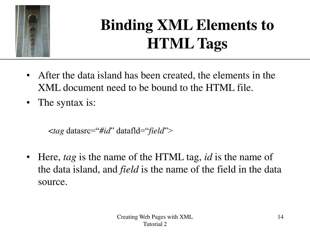 Binding XML Elements to