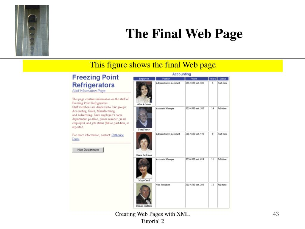 The Final Web Page