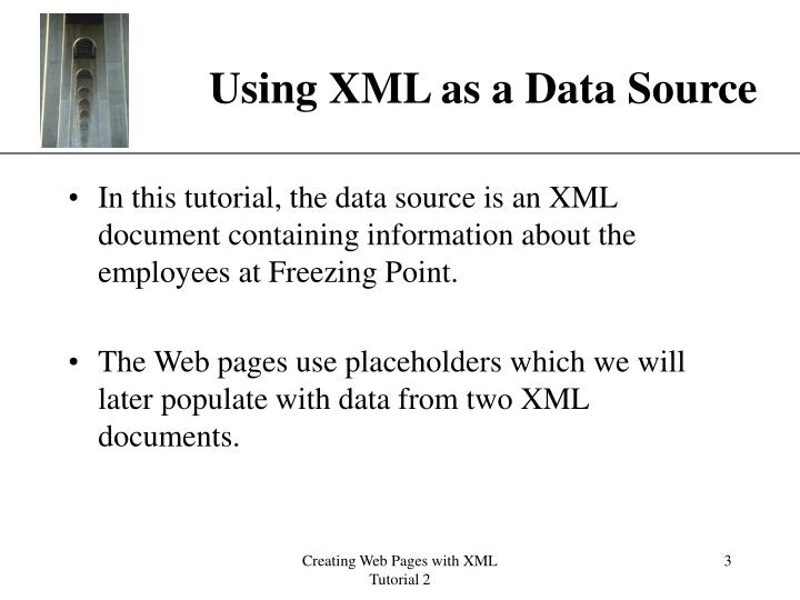 Using xml as a data source3