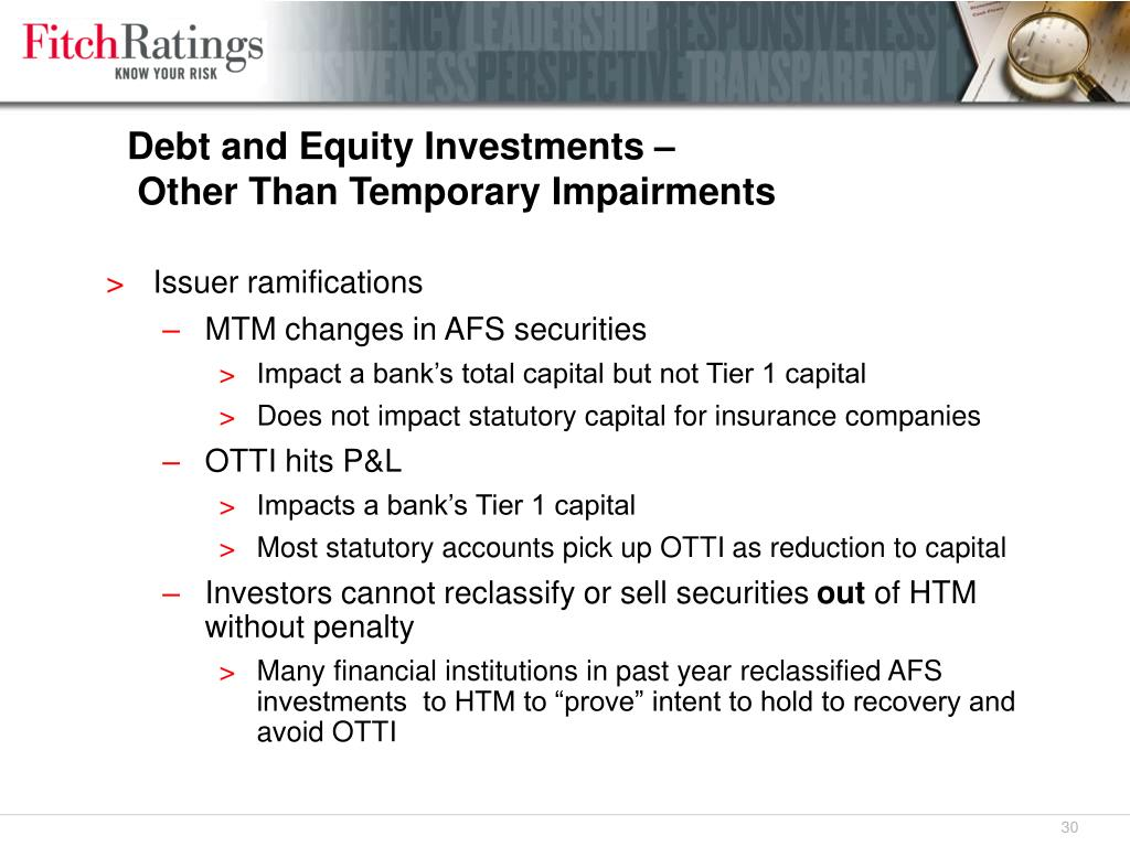 Debt and Equity Investments –