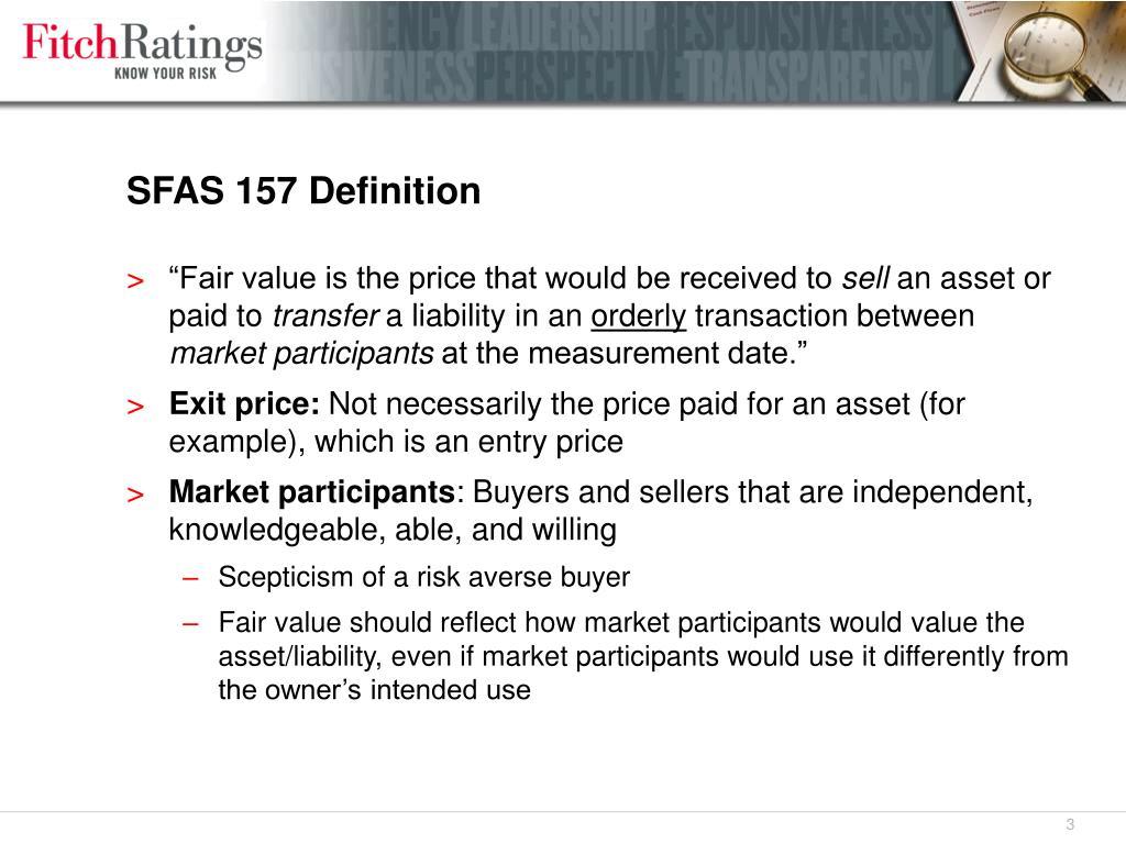 SFAS 157 Definition