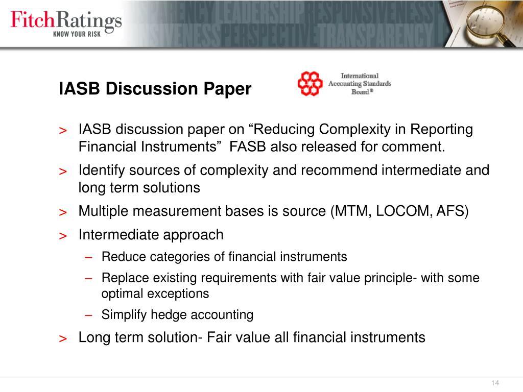 IASB Discussion Paper