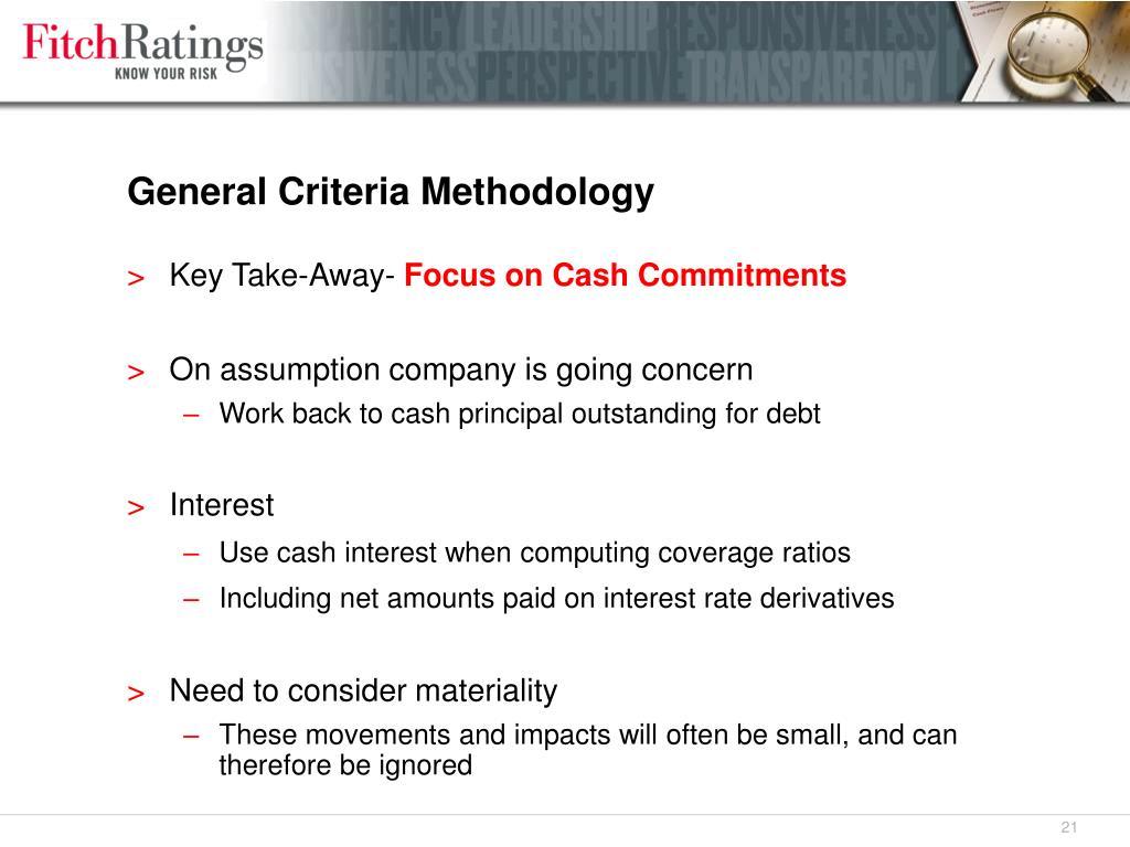 General Criteria Methodology