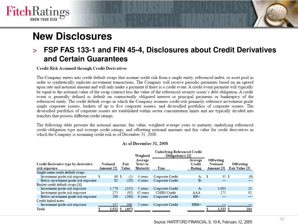 New Disclosures
