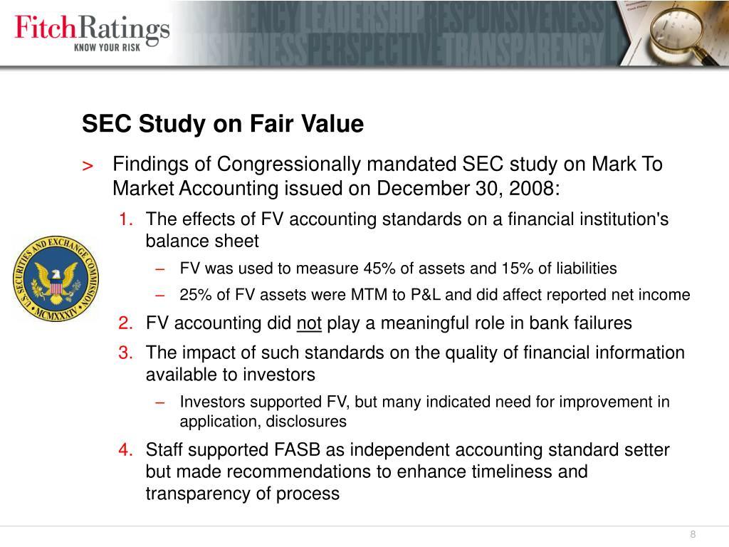 SEC Study on Fair Value