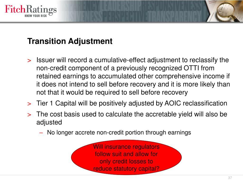 Transition Adjustment