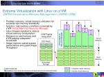 extreme virtualization with linux on z vm vmrm cooperative memory management vmrm cmm
