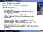 linux on ibm system z take back control of your it infrastructure