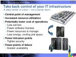 take back control of your it infrastructure a data center in a box not a server farm