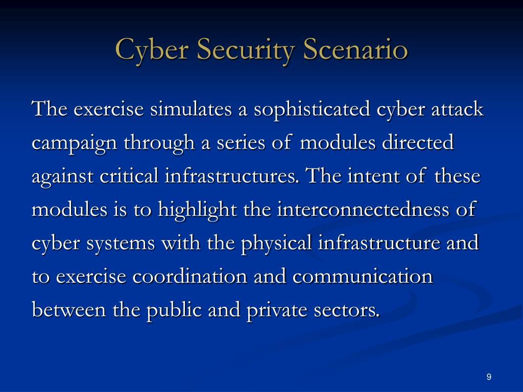 Cyber Security Scenario