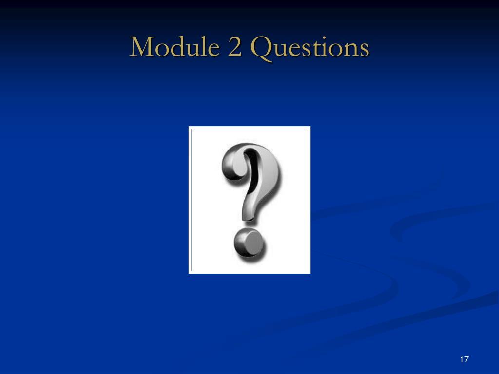 Module 2 Questions