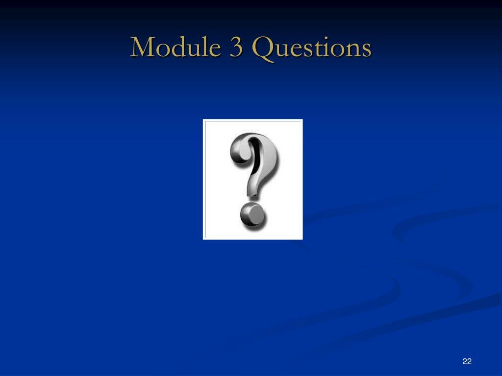 Module 3 Questions