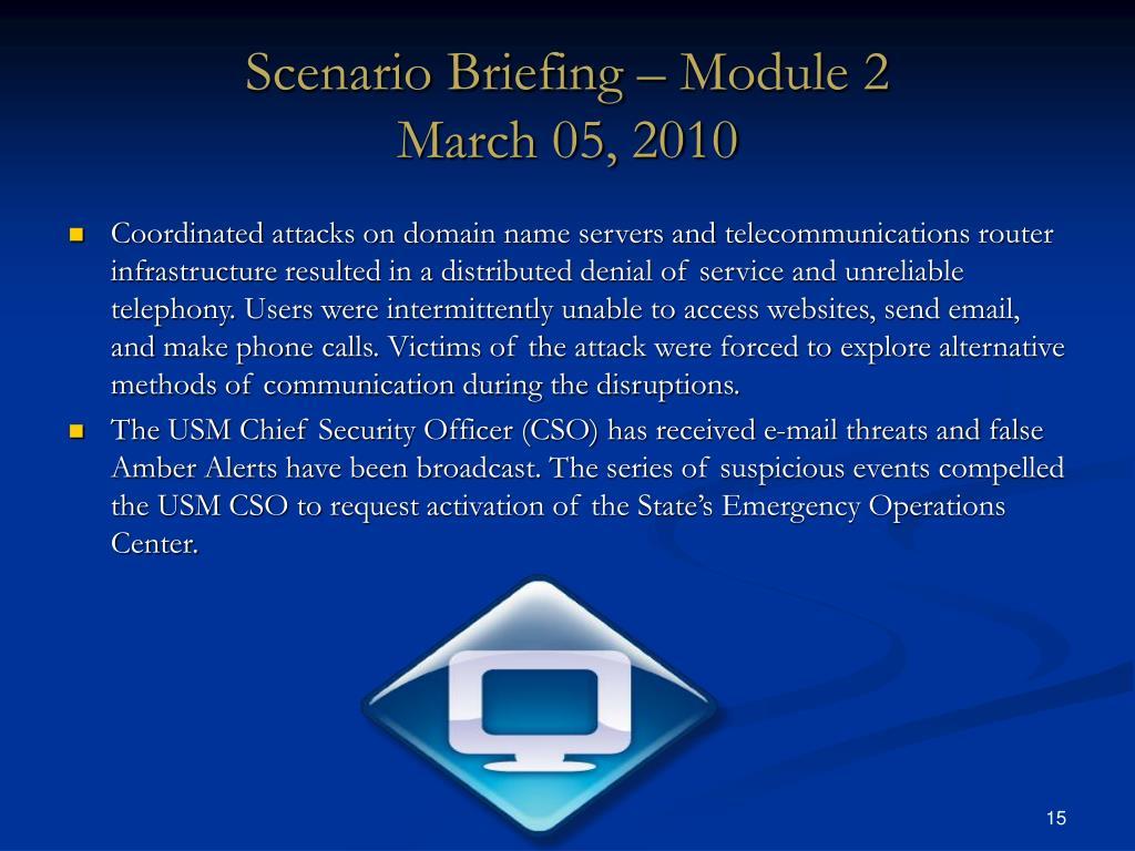 Scenario Briefing – Module 2
