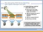 non disruptive esx server patching with update manager and drs