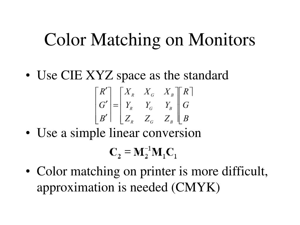 Color Matching on Monitors