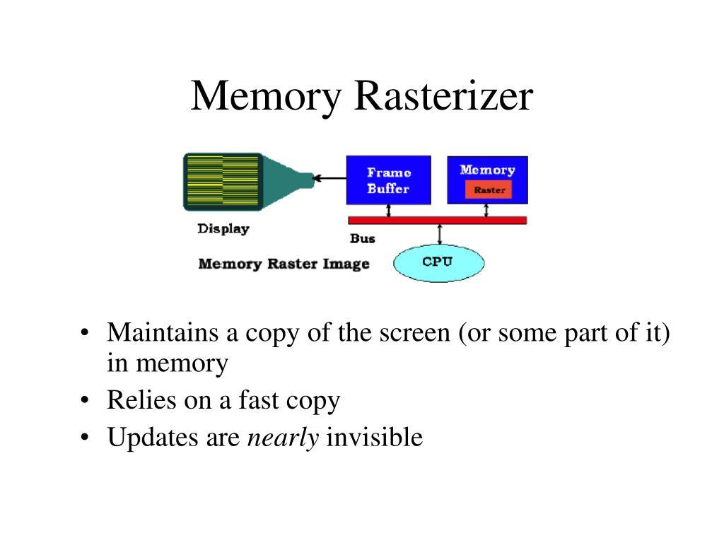 Memory Rasterizer