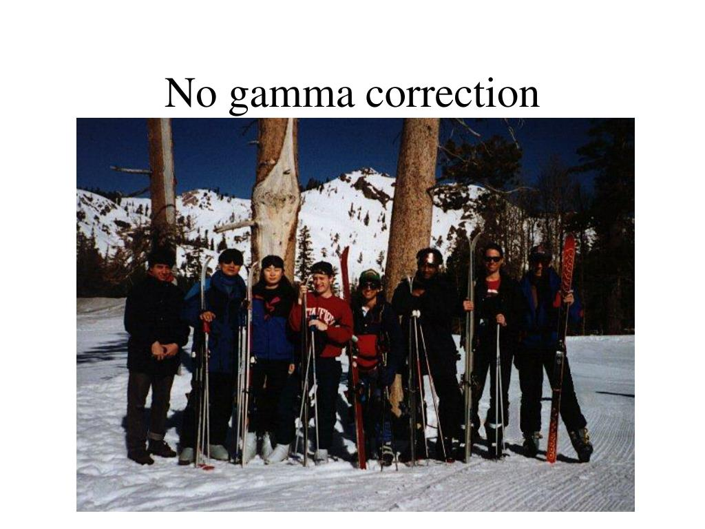 No gamma correction