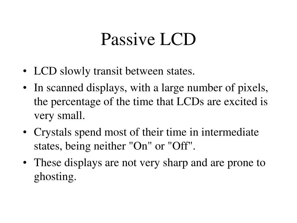 Passive LCD