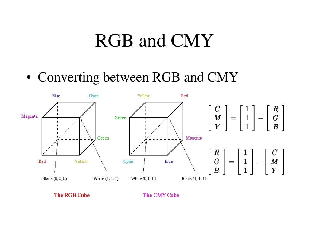 RGB and CMY