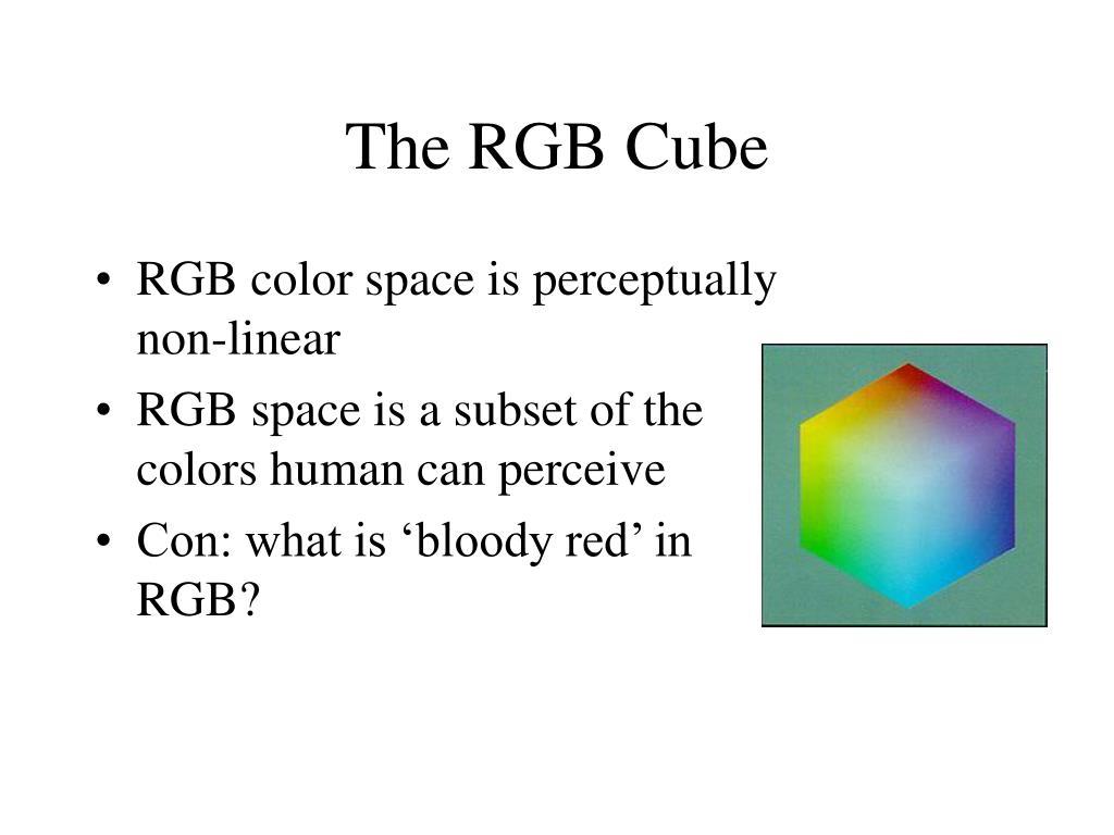 The RGB Cube