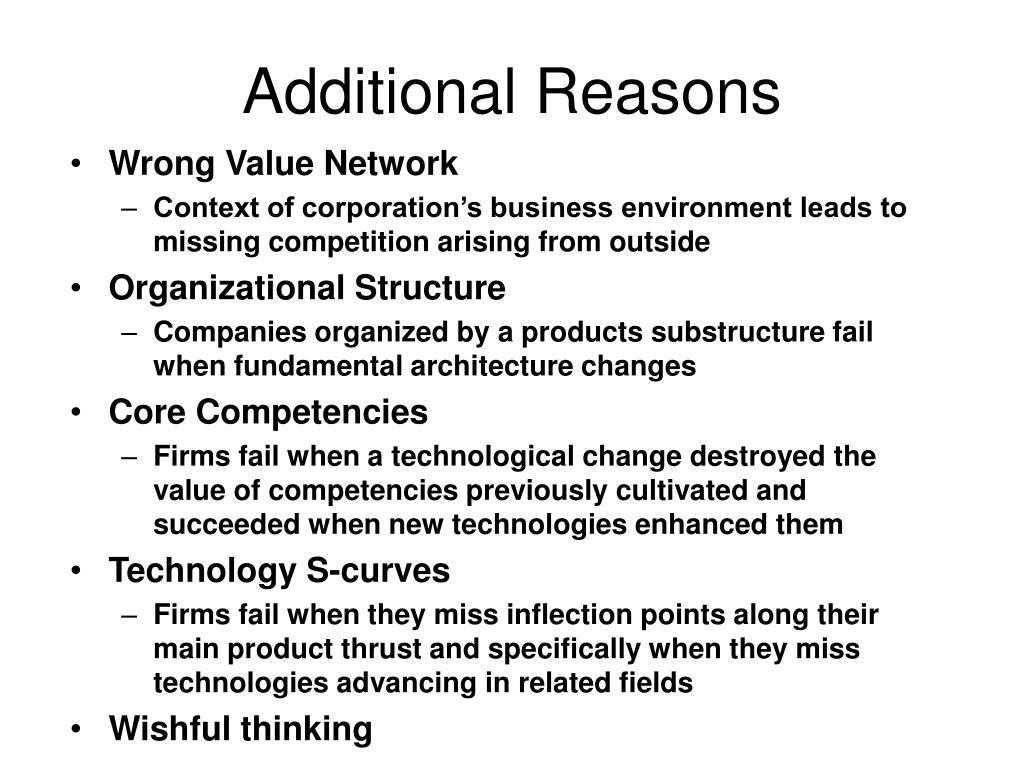 Additional Reasons