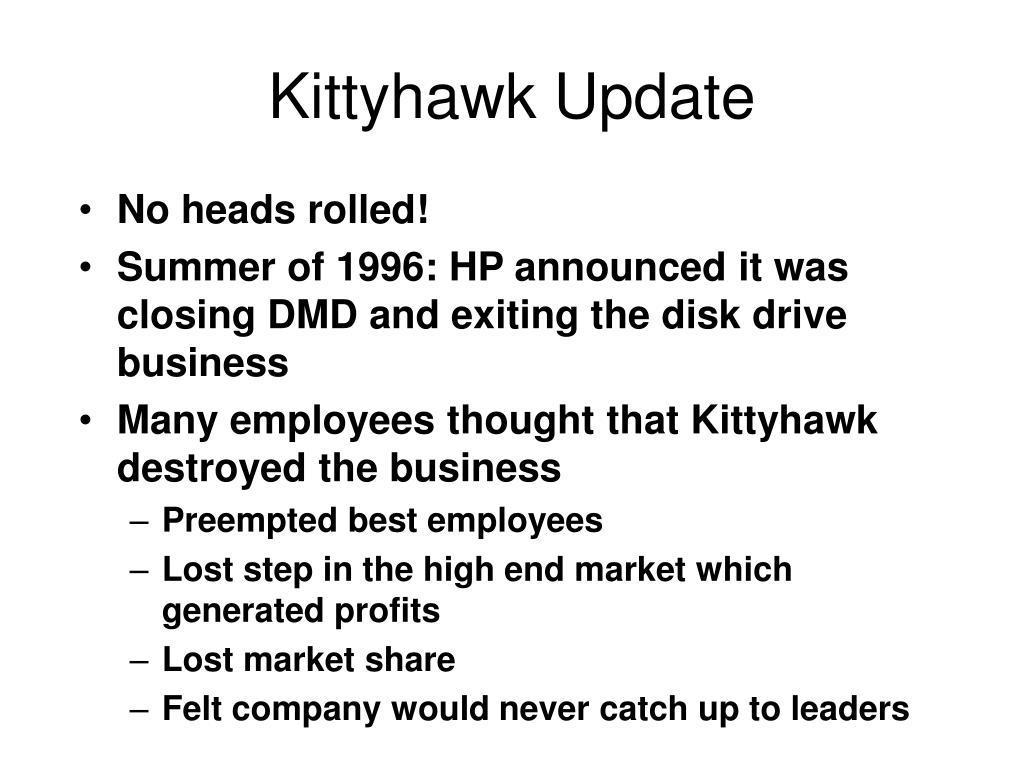 Kittyhawk Update