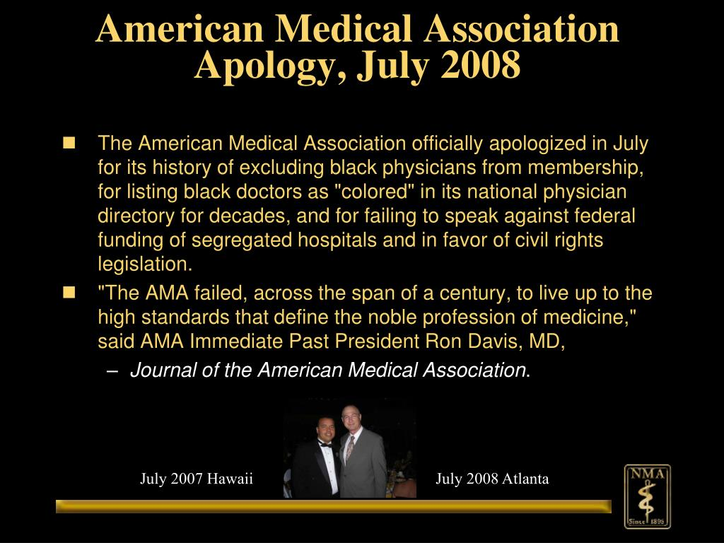 American Medical Association Apology, July 2008