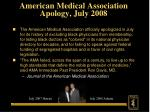 american medical association apology july 2008