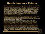 health insurance reform