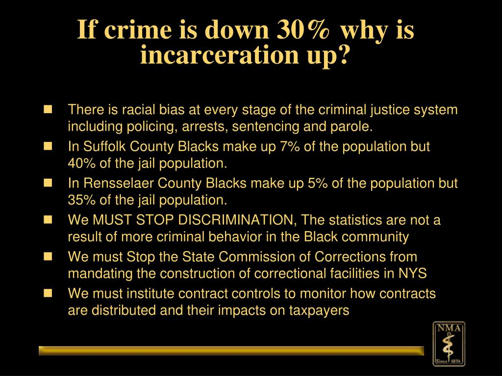 If crime is down 30% why is incarceration up?