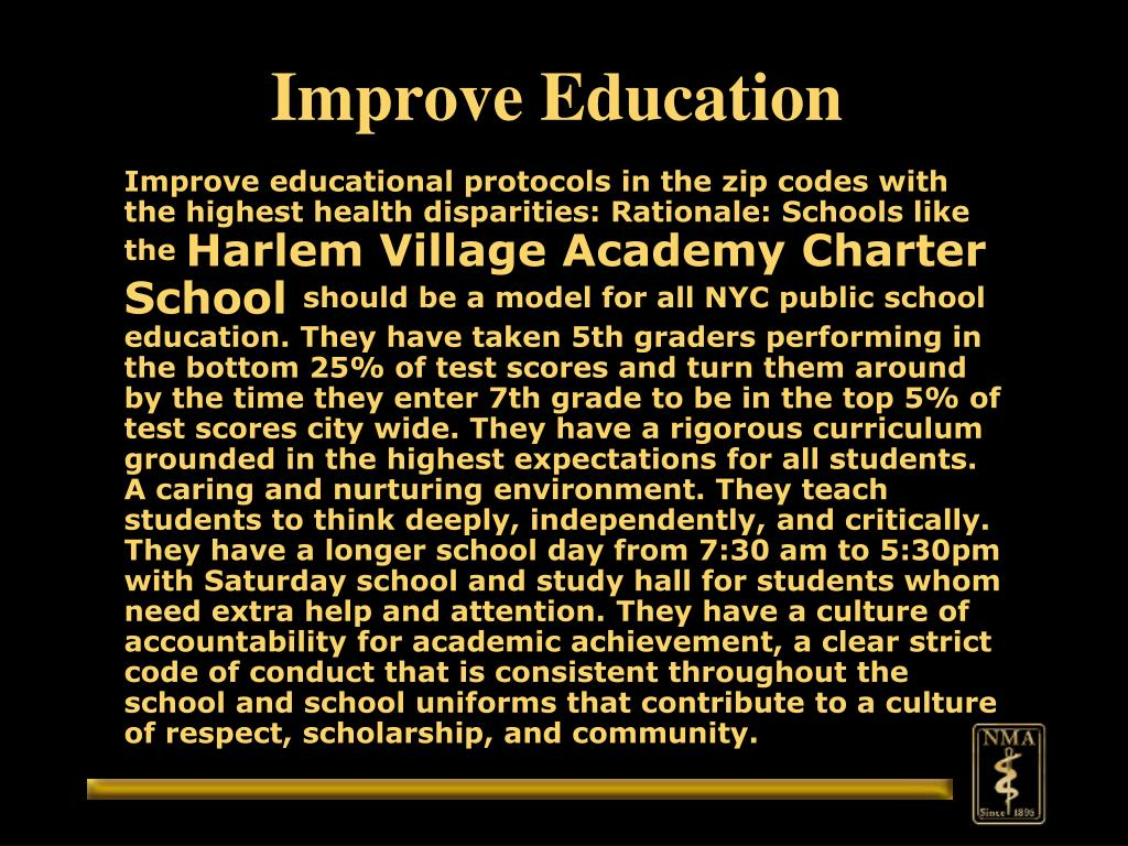 Improve Education