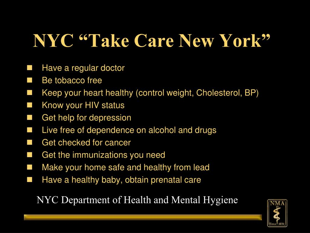 "NYC ""Take Care New York"""