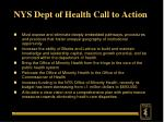 nys dept of health call to action