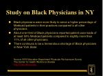 study on black physicians in ny6