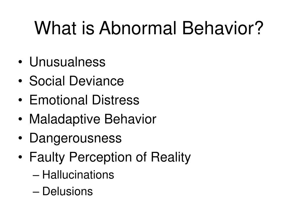 What is Abnormal Behavior?