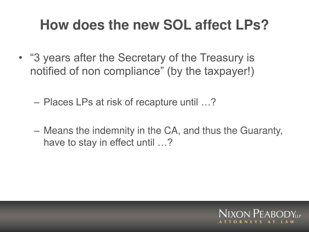 How does the new SOL affect LPs?