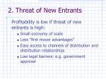 2 threat of new entrants