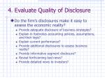 4 evaluate quality of disclosure