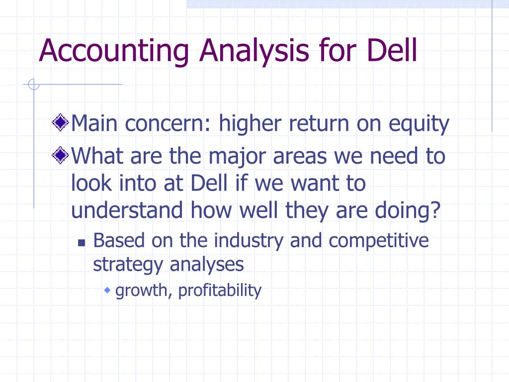 Accounting Analysis for Dell
