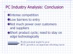 pc industry analysis conclusion